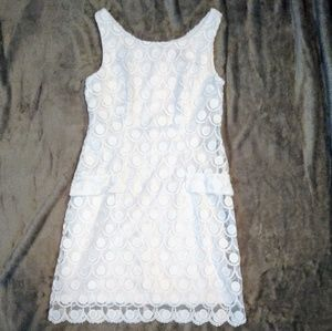 White Eyelit Dress Size 4